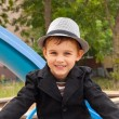 Royalty-Free Stock Photo: Portrait of beautiful smiling little boy in hat