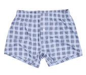 Checkered boxer shorts. Isolated on a white — Stock Photo