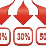 Arrow sale sticker. Vector illustration. — Stock Vector #12223354