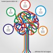 Concept of colorful tree for different business design. — 图库矢量图片