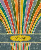 Vintage salute grunge background. Vector illustration — Stockvector