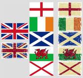 Groot-brittannië vlaggen. grunge effect kan gemakkelijk worden gereinigd. — Stockvector