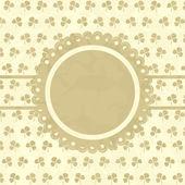 Clover design vintage frame. Vector illustration — Stock Vector