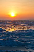 Frozen sea at early morning — Stock Photo
