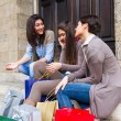 Group of Women Talking on Mobile Phone — Stock Photo #10863426