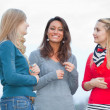 Three Women Chatting Outdoor — Stock Photo #11002589