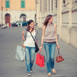 Couple of Women with Shopping Bags — Stock Photo