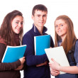 Happy Teenage Students on White - Foto de Stock