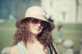 Young Girl in Piazza dei Miracoli — Stock Photo