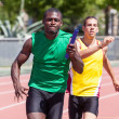 Passing the Relay Baton — Stock Photo