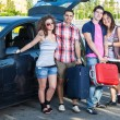 Stock Photo: Four Friends Ready to Leave For Vacation
