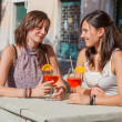 Two Young Women with a Cold Drink — Stock Photo #11318213