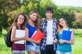 Estudiantes adolescentes en el parque — Foto de Stock