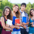 Teenage Students at Park — Stock Photo