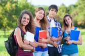Teenage Students at Park — Foto Stock