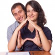 Happy Young Couple Buying an House — Stock Photo