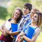 Teenage Students at Park — Stock Photo #11545753