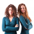 Two Beautiful Female Friends Together — Stock Photo