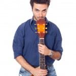 Young Man Playing Guitar — Stock Photo #11800763