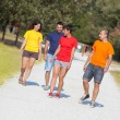 Stock Photo: Group of Walking Outside