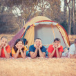 Stock Photo: Young Camping