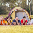 Young Camping — Stock Photo