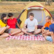 Group of Camping and Reading a Story — Stock Photo