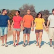 Stock Photo: Group of Friends Walking Outside