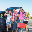 Four Friends Ready to Leave For Vacation — Stock Photo #12126295