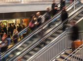 On Escalator — Stockfoto