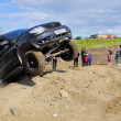 Off-road car in difficult terrain — Stock Photo