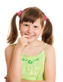Heureuse jeune fille souriante — Photo