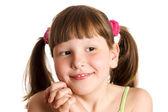 Šťastné usmívající se dívka — Stock fotografie