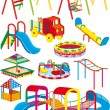Stock Vector: Playground set