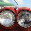 Stock Photo: Twin headlamp