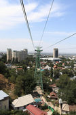 Tower of funicular in Almaty — Stock Photo