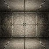 Old metallic interior, texture of metal. — Stock Photo