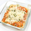 Stock Photo: Fresh baked lasagna