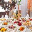 Stock Photo: Wedding table setting
