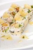 Sweet rolls with banana sorbet — Stock Photo