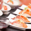 Stock Photo: Sushi on table