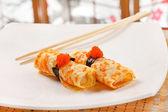 Omelet Maki Sushi — Stock Photo
