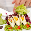 Summer salad with calamari — Stock Photo