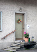 Flower near door — Stock Photo
