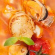 seafood soup — Stock Photo