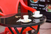 Coffee cups outdoor — Stock Photo