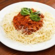 Stock Photo: Pastwith meat sauce