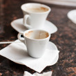 Empty coffee cups — Stock Photo