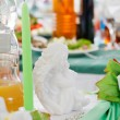 Wedding table setting — Stok fotoğraf