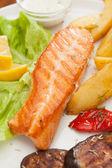Salmon steak — Stock Photo